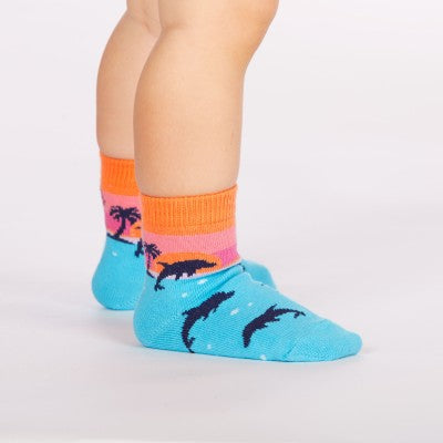 Dolphin socks for toddlers