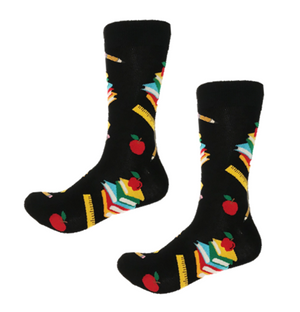 Your favorite teacher will love these funky crew socks