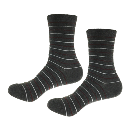 Comfortable socks with thin stripes