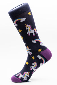 Unicorn and Rainbows Funky Crew Socks
