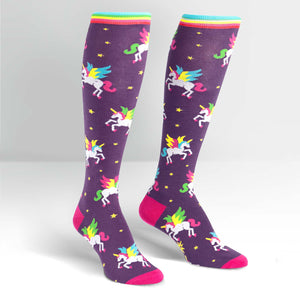 Flying Unicorn Funky Knee High Socks