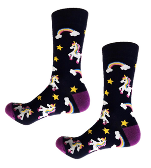 Unicorn Funky Crew Socks