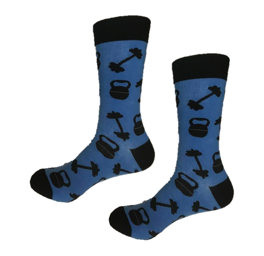 Weight lifting funky crew socks