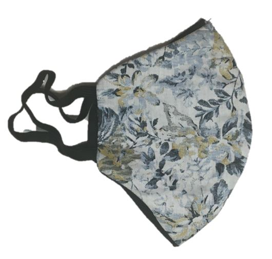 Face Mask - Floral Blue and Yellow