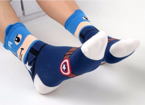 SUPERHERO CAPTAIN AMERICA ANKLE SOCKS
