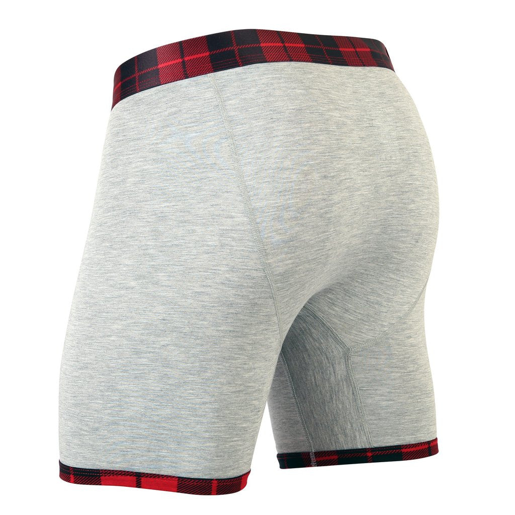 MyPakage Heather Hunder Plaid Boxer Briefs | moJJa underwear club