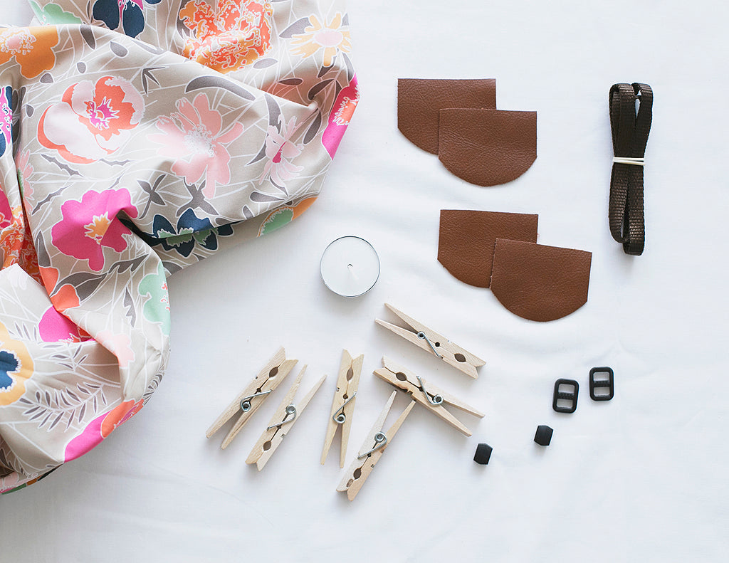DIY Scarf Camera Strap kit - boho floral