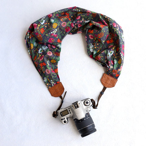 scarf camera strap budding beauty - BCSCS007