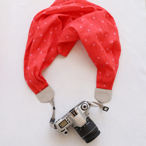 scarf camera strap watermelon - BCSCS068