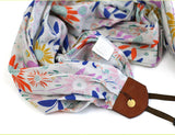 scarf camera strap wild heather - BCSCS091