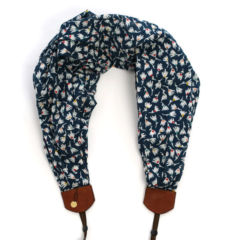 *luxury batiste cotton* scarf camera strap summer showers - BCSCS094