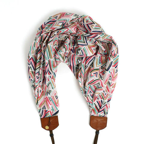 *organic luxury batiste cotton* scarf camera strap lets go fly a kite - BCSCS104