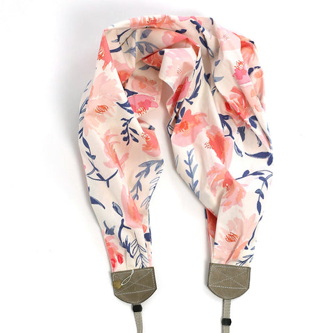 scarf camera strap sweet blossoms - BCSCS111