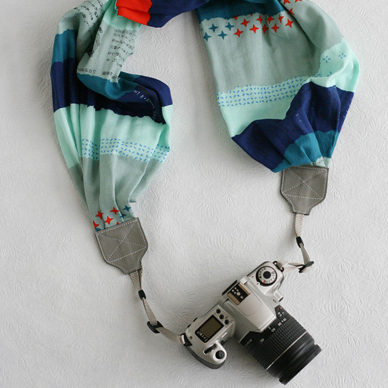 scarf camera strap nantucket - BCSCS028