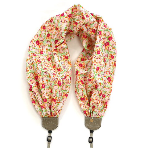 scarf camera strap flowering fields - BCSCS128