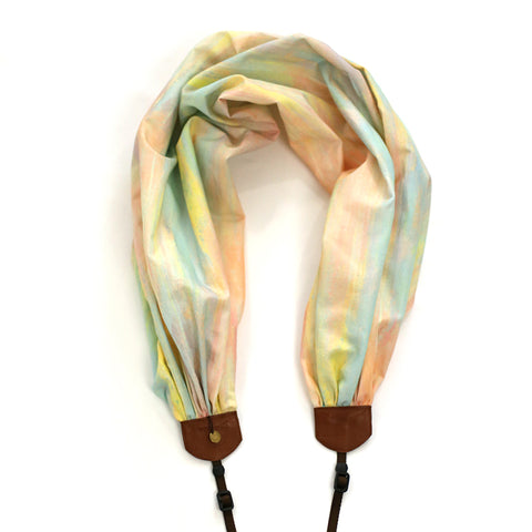 scarf camera strap soft sunset - BCSCS134