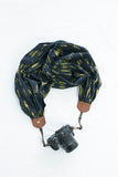 scarf camera strap evening evergreen - BCSCS117