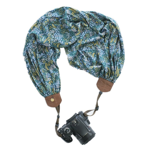 scarf camera strap midnight mistletoe - BCSCS118