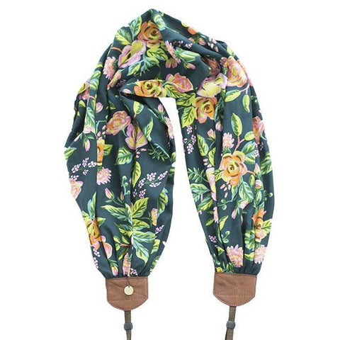 scarf camera strap flowering forest - BCSCS119