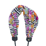 scarf camera strap painted poppies - BCSCS121