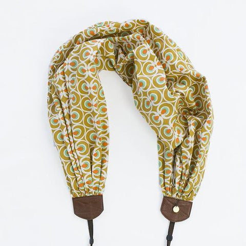 scarf camera strap rising moon - BCSCS122