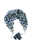 scarf camera strap midnight magnolia - BCSCS127