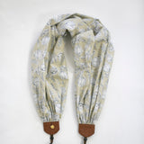 scarf camera strap wind tossed peony natural - BCSCS150
