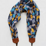 scarf camera strap autumn leaves - BCSCS069