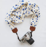 DIY Scarf Camera Strap kit - Indigo Starbust