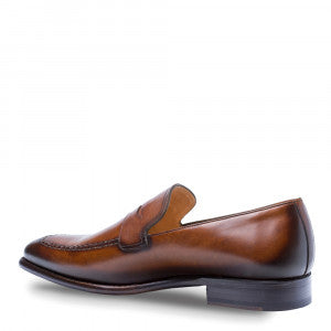 Mezlan Mens Adler Classic Dress Penny Loafer With Apron Toe 8516