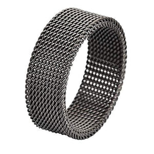 Comfort Fit Stainless Steel Mesh Ring-Ring-Guy Jewels