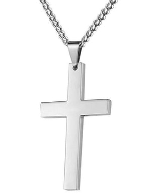 Cross Necklace with Chain-Necklace-Guy Jewels