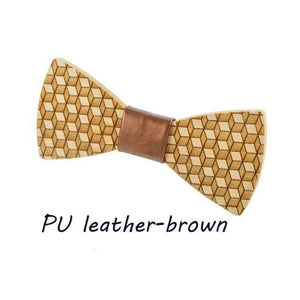 Decorative Wooden Bow Tie-Bow Ties-Guy Jewels