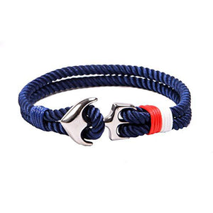 Double Layer Rope Bracelet With Anchor Clasp-Bracelet-Guy Jewels