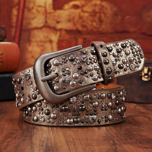 Fashion Rhinestone Studded Belt-Belts-Guy Jewels