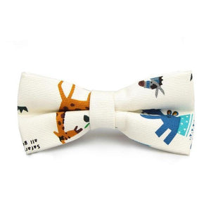 Graphic Print Cotton Bow Ties-Bow Ties-Guy Jewels