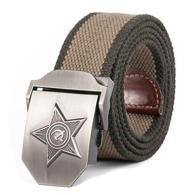 High Quality 3D Five Rays Star Military Belt Old CCCP Army Belt