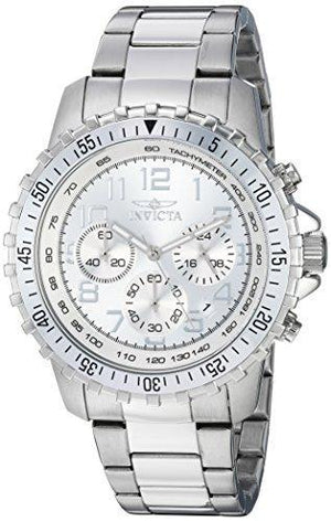 Invicta Stainless Steel Silver Dial Watch-Watch-Guy Jewels