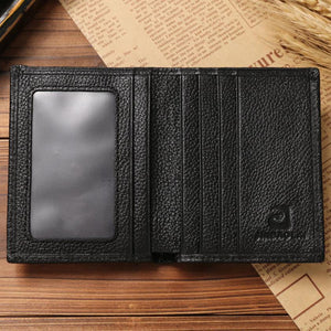Men Short Wallets Leather Credit/ID Card Holder-Wallets-Guy Jewels