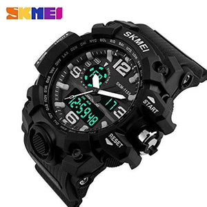 Men's Big Dial Water Resistant LED Military Watch-Watch-Guy Jewels
