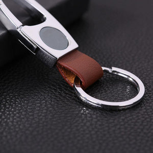 Men's Business Leather Keychain-Key Chains-Guy Jewels