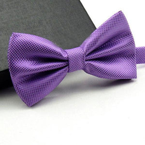 Men's High Quality Solid Bow Tie-Bow Ties-Guy Jewels