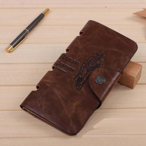 Men's Long Leather Hasp Wallet-Wallets-Guy Jewels