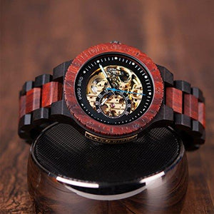 Men's Luxury Wooden Skeleton Watch-Watch-Guy Jewels