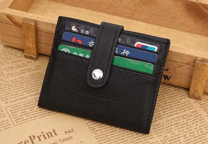Men's Retro Style Leather Bifold Wallet-Wallets-Guy Jewels