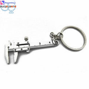 Movable Vernier Caliper Ruler Model Keychain-Key Chains-Guy Jewels