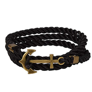 Rope Bracelet with Anchor Clasp-Bracelet-Guy Jewels