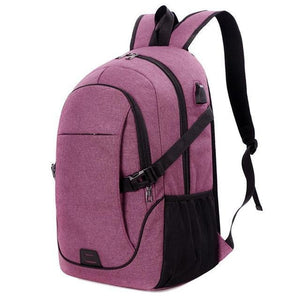 Smart USB Charging Waterproof Canvas Back Pack-Bags-Guy Jewels
