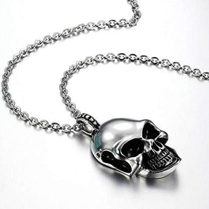 Stainless Steel Skull Pendant Necklace-Necklace-Guy Jewels