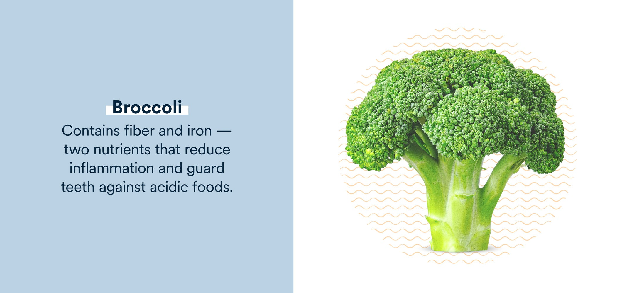broccoli contains nutrients that reduce inflammation